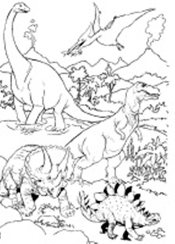Malvorlagen für Kinder. Gratis Malbuch. Dinosaurier herunterladen